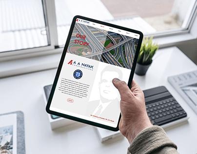 Website Design & Development for A.A.Nayak Construction