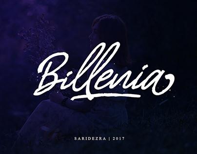 BILLENIA - FREE SCRIPT FONT