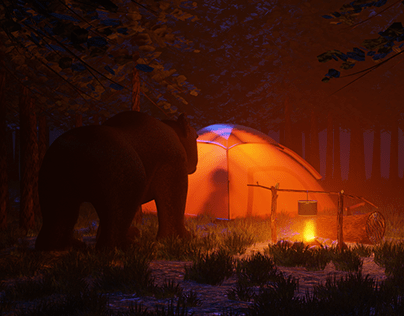 Bear in the woods | Camp