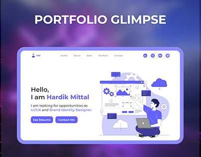 Portfolio Template- Hardik Mittal