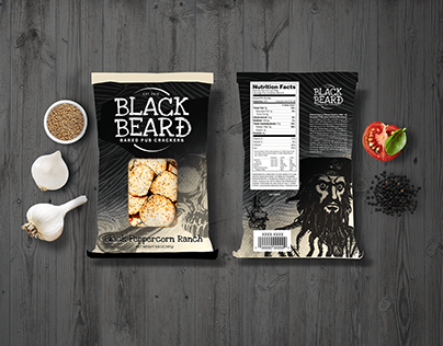 Black Beard Baked Pub Crackers Mockup