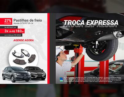 Promocional de Pós Vendas para Concessionária Honda