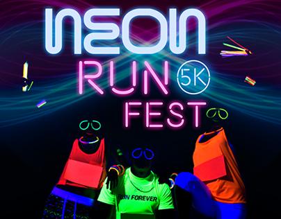 Poster Neon Run Fest 5k