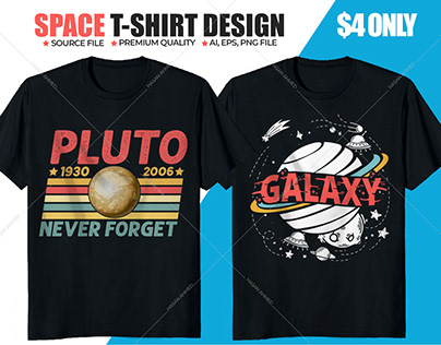 Nasa Galaxy Space Vector Print T-shirt Design