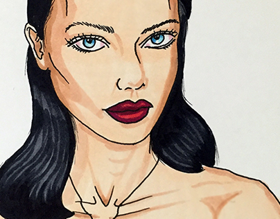 Adriana Lima Illustration