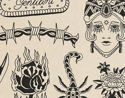 Flash Tattoo Illustrations