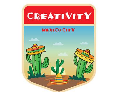 """CREATIVITY"" Mexico City badge design"