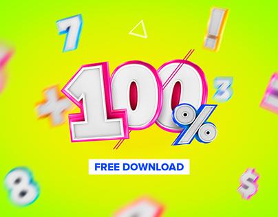 Números 3D Free Download