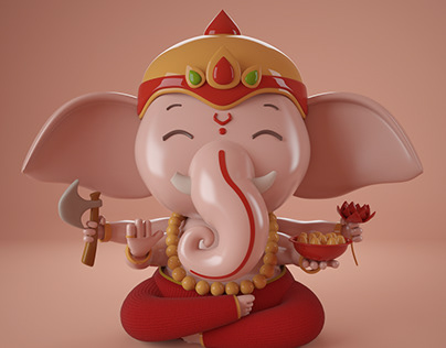 Lord Ganesh | Cinema 4D + Vray
