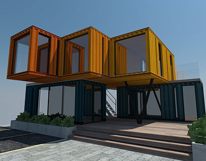 Shiping Container Building Design, Houston, TX