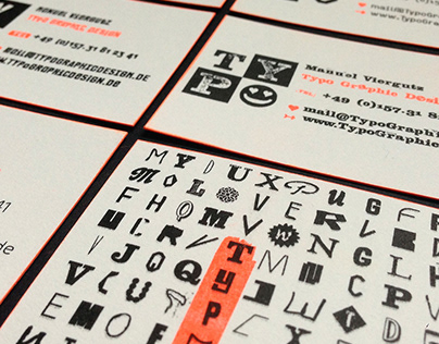 Business-Cards | Typo Graphic Design | Riso Printed