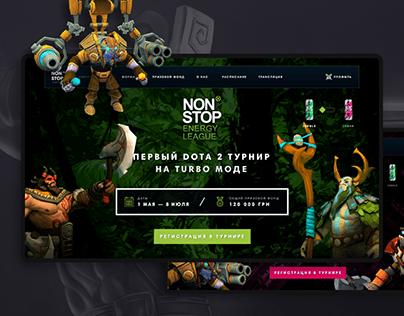 Dota 2 League Landing Page & Tournament Platform