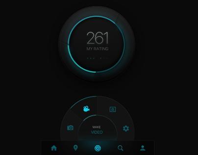 Futuristic UI Elements / Mobile Application