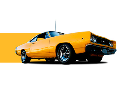 Muscle cars restoration landing page