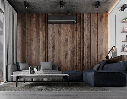 MV- Roof , Living & Study Room