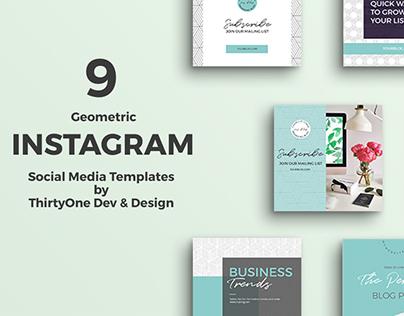 9 Instagram Social Media Templates