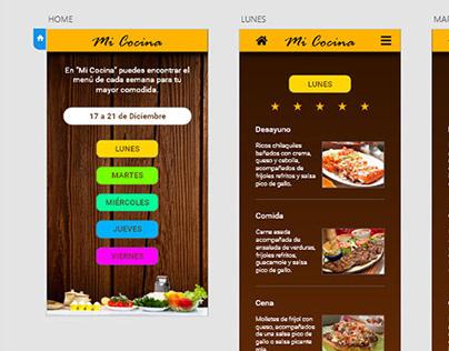 Mi Cocina Prototype App