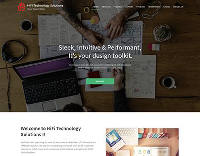 HiFi Tech Website Design