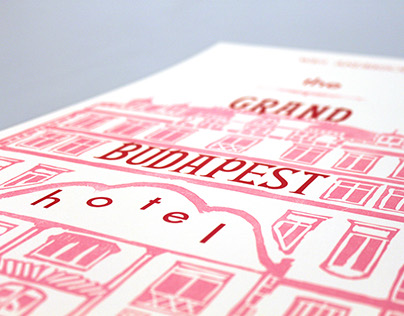 Grand Budapest Letterpress