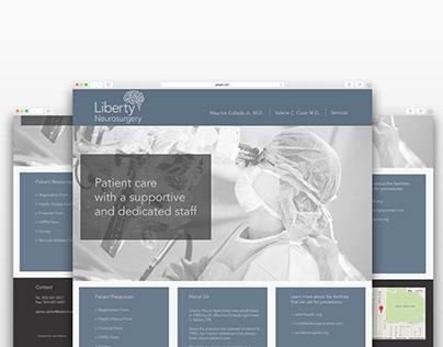 Liberty Neurosurgery Logo and Website Design