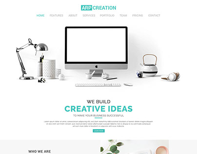 Minimal Portfolio PSD Template || ARP Creation