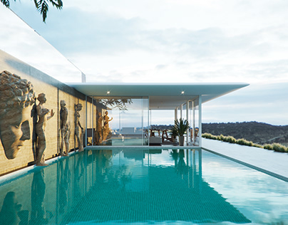SWIMMING POOL IN A HOUSE // FRANCE