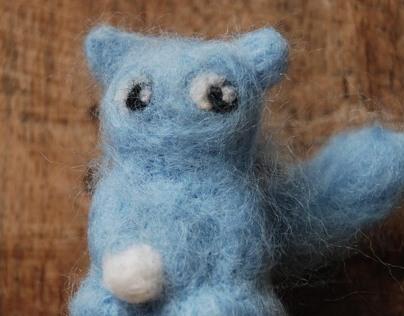 Squint blue cat