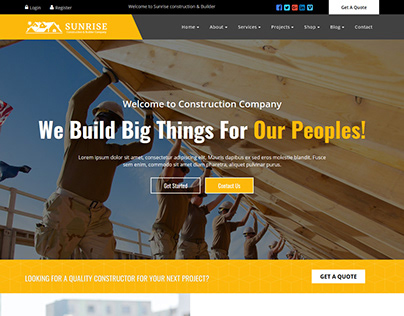 Sunrise Construction & Builder Company Responsive HTML