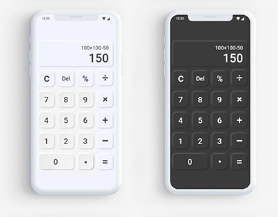 Neumorphism Calculator UI/UX Design