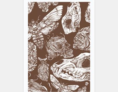 Bones in Brown Poster