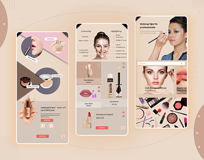 Makeup tips mobile app design