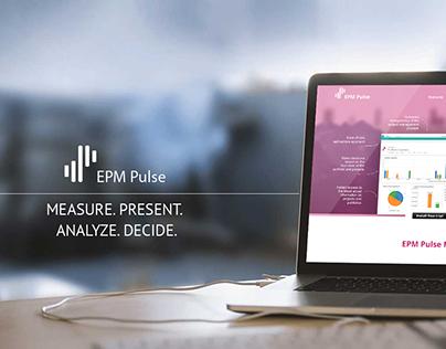 EPM Pluse landing page UX / UI design