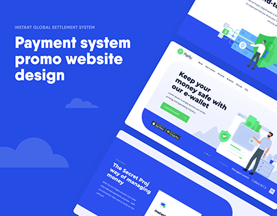 Payment system promo website design