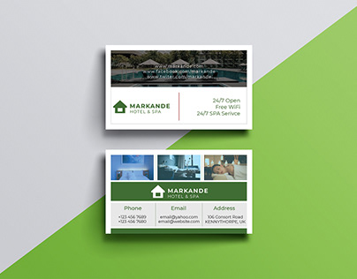 Hotel & Spa Business Card Design