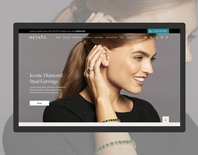 UX/UI Design - Netaya Jewelry Web Design