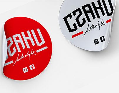 CZAKU logo design // hip hop artist branding