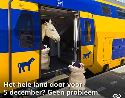 Fictieve social post NS als inhaker op Sinterklaas