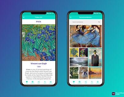 UI/UX project - ArtDose mobile app