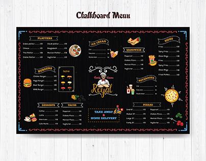 Chalkboard Menu List