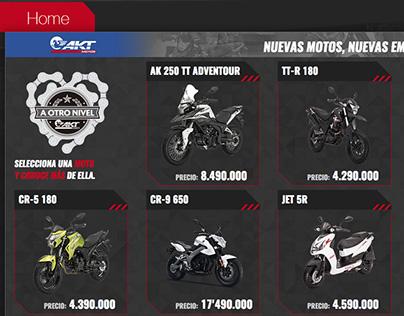 Catálogo para presentar las nuevas Motos de la marca AK