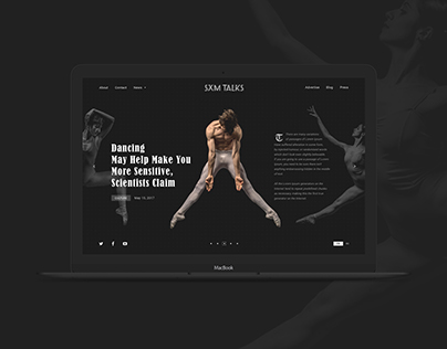 Creative design for news website