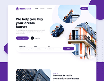 Real Estate - Landing Page Concept