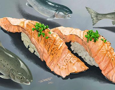 Salmon Japanese Sushi
