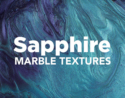 Sapphire Modern Marble Ink Textures