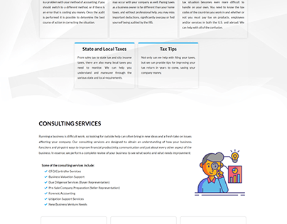 Business Website Design ( One Page ) Gables CPA