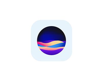 Waves App Icon Logo Design