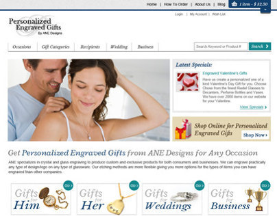 Personalized Engraved Gifts Web Design