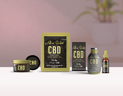 CBD Products Scene Mockup