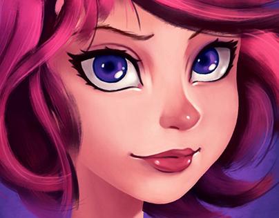 girl digital painting