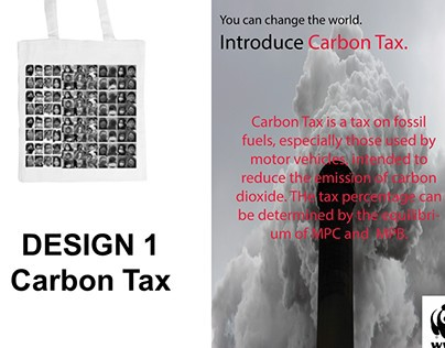poster and tote bag design based on carbon taxation